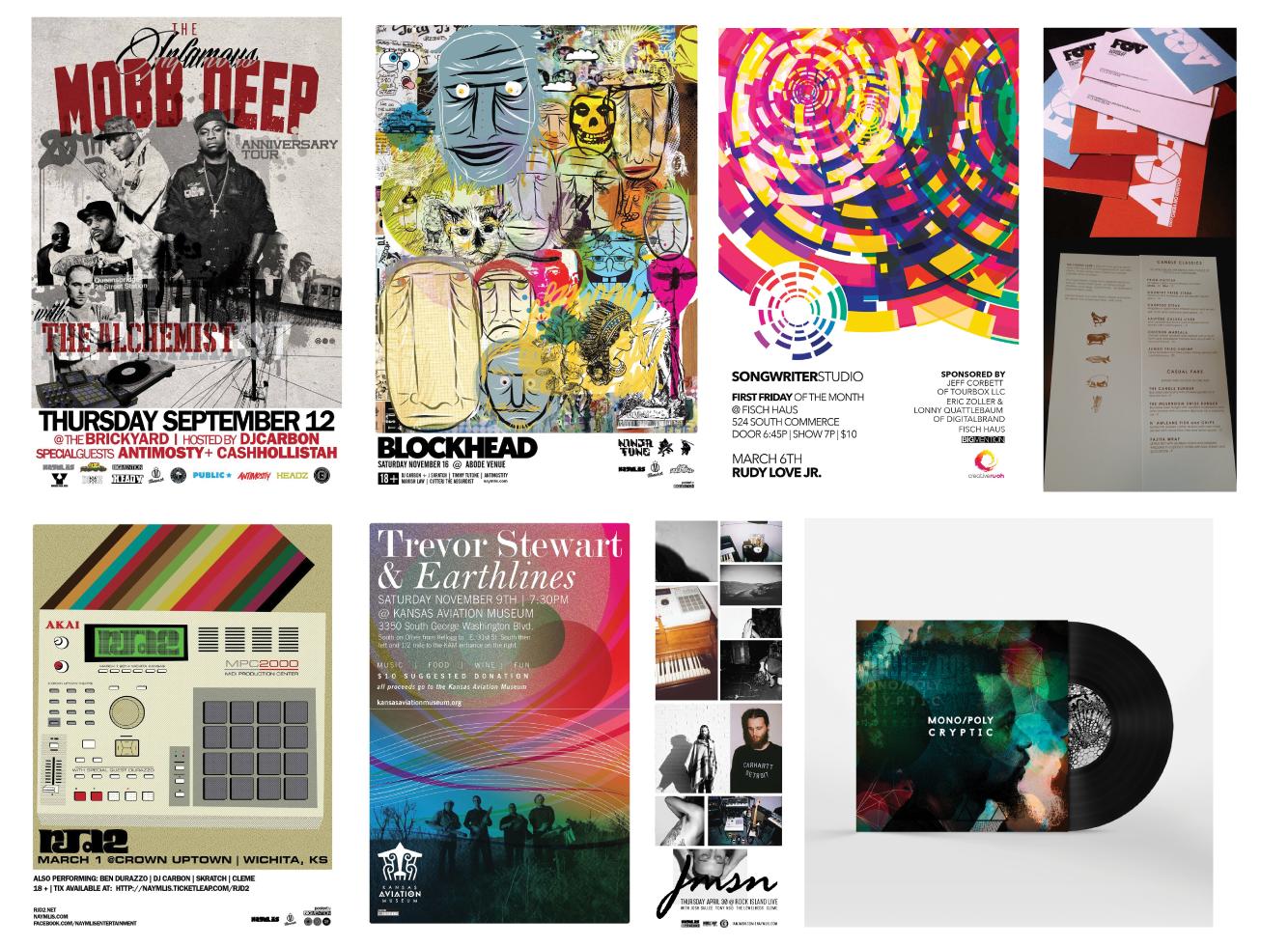 Selected print designs by Ian Stewart